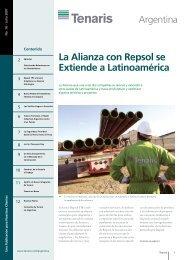 La Alianza con Repsol se Extiende a Latinoamérica - Tenaris