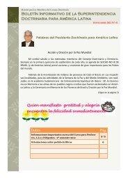 Boletín Informativo de la Superintendencia Doctrinaria para América ...
