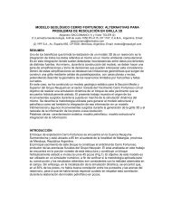 modelo geológico cerro fortunoso: alternativas para ... - Larriestra