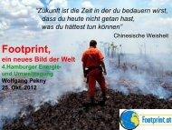 Footprint, Klimawandel und die Grundlagen einer ... - Sager & Deus