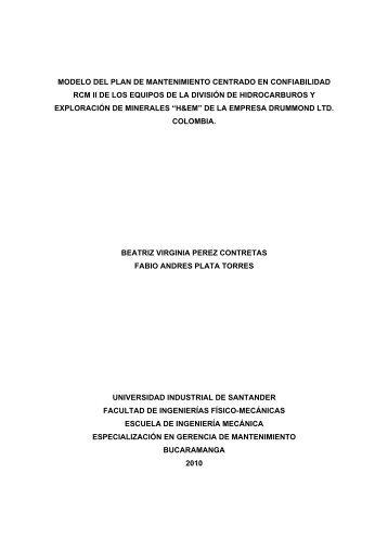 modelo del plan de mantenimiento centrado en confiabilidad rcm ii ...