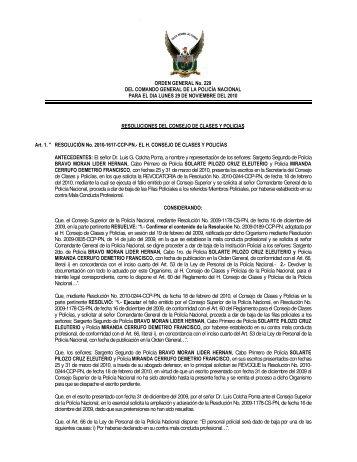 ORDEN GENERAL No. 229 DEL COMANDO GENERAL DE LA ...
