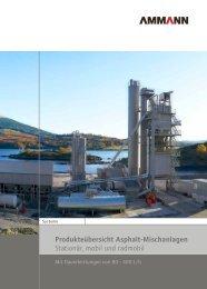 Produkteübersicht Asphalt-Mischanlagen ... - Ammann Group