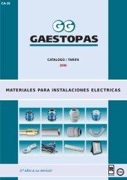 MATERIALES PARA INSTALACIONES ELECTRICAS - Gaestopas