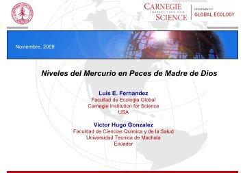 Estudio de los Niveles de Mercurio en Peces de la Zona de Madre ...