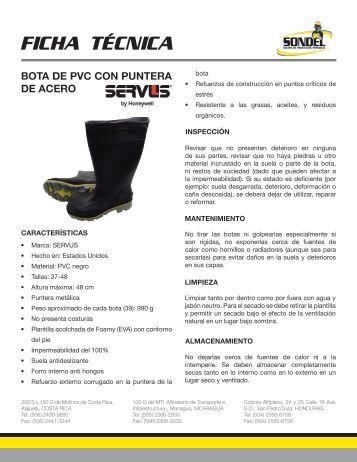 Bota de pvc con puntera de acero 75109.pdf - SONDEL