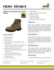 Zapato con puntera de acero camel WL6CM.pdf - SONDEL
