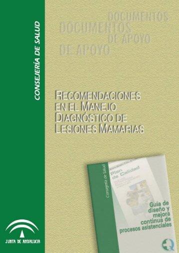 Recomendaciones en el manejo diagnóstico de lesiones mamarias