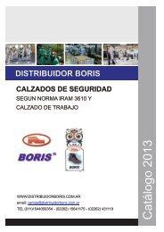 Catálogo 2013 - calzado de seguridad boris