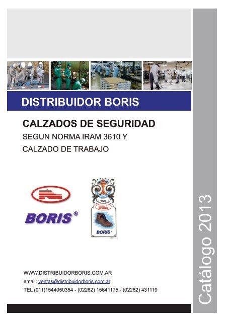 fd6284f0a Catálogo 2013 - calzado de seguridad boris