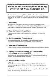 Protokoll der Jahreshauptversammlung 2011 von Rot-Weiss ...