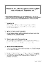 Protokoll der Jahreshauptversammlung 2007 - Rot-Weiss ...