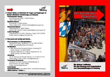 Veranstaltungswegweiser - Stadt Amberg