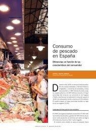 Consumo de pescado en España - Mercasa