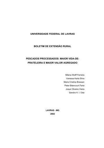 Pescados processados - Ufla