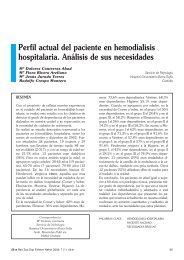 Perfil actual del paciente en hemodialisis ... - SciELO España