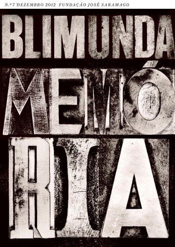 Blimunda 7 - José Saramago 90 Anos
