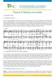 Tema 5: El Maestro em oración - JMJ Rio 2013