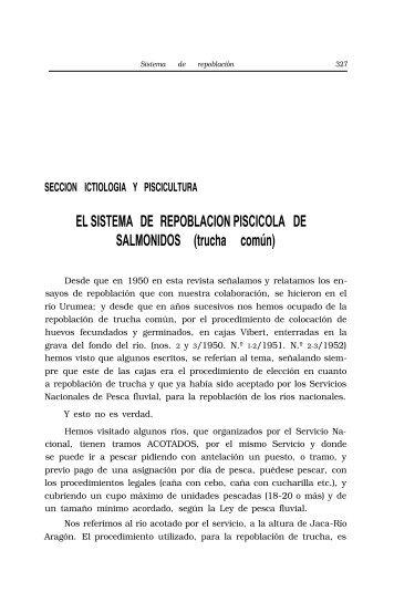 Sistema de repoblación piscícola de salmónidos (trucha ... - Aranzadi