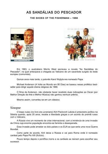 AS SANDÁLIAS DO PESCADOR Sinopse - Mkmouse.com.br