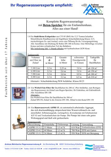 wisy filtersammler amres regenwassernutzung. Black Bedroom Furniture Sets. Home Design Ideas