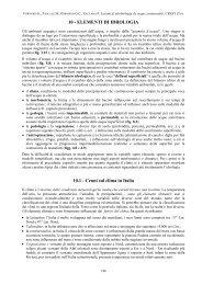 10 - ELEMENTI DI IDROLOGIA 10.1 - Cenni sul clima in Italia