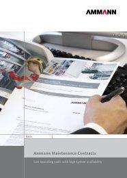 Ammann Maintenance Contracts - Ammann Group - Home