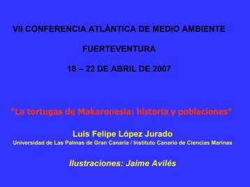 Descargar el Power Point - Canarias Medio Ambiente