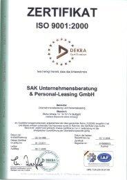 zertifikat - Sak Unternehmensberatung und Personal-Leasing GmbH