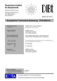 Europäische Technische Zulassung für - Sakret Trockenbaustoffe ...