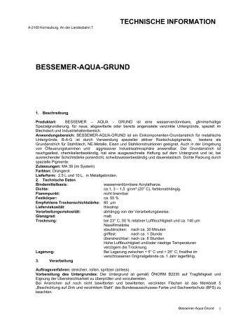 BESSEMER-AQUA-GRUND - Amonn
