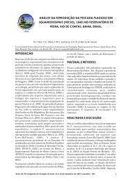 análise da reprodução da pescada plagioscion squamosissimus