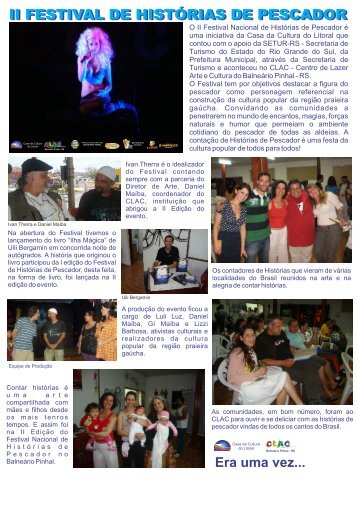 II FESTIVAL DE HISTÓRIAS DE PESCADOR
