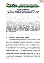 rede solidária da pesca: construção e desafios - Escola Politécnica ...
