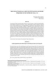 organização social e aspectos técnicos da atividade pesqueira