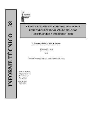 Infórme Técnico Nº 38 - Fundación Patagonia Natural