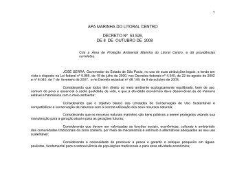 Decreto Estadual N°53.526 de 8/10/2008 - Ibama