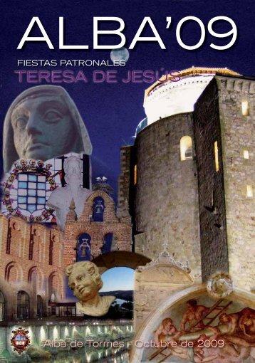Libro de fiestas octubre 2009 - Ayuntamiento de Alba de Tormes
