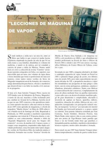 """""""LECCIONES DE MÁQUINAS DE VAPOR"""""""