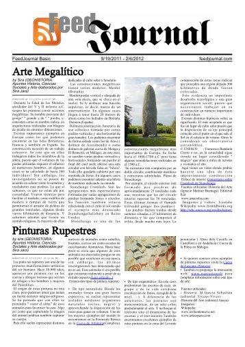 Arte Megalítico Pinturas Rupestres - FeedJournal