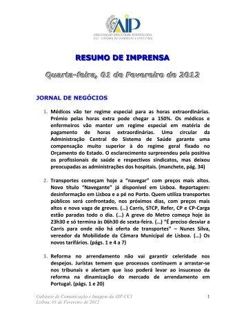 RESUMO DE IMPRENSA - AIP