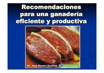 Recomendaciones para una ganadería más eficiente y ... - CORFOGA