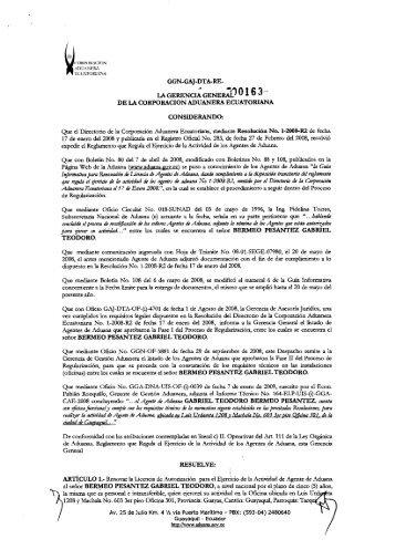 Vista Previa - Aduana del Ecuador