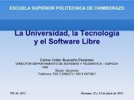 La Universidad, la Tecnología y el Software Libre - tical 2011