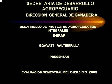 SECRETARIA DE DESARROLLO AGROPECUARIO - intranet fgp
