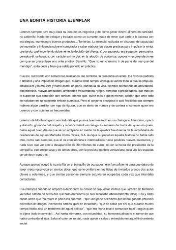 UNA BONITA HISTORIA EJEMPLAR - Javier Sánchez Blog