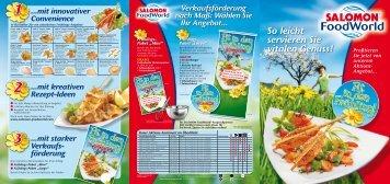 So leicht servieren Sie vitalen Genuss! - SALOMON FoodWorld