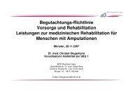 Begutachtungs-Richtlinie Vorsorge und Rehabilitation Leistungen zur