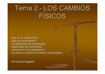 Tema 2.- LOS CAMBIOS FÍSICOS - Catedu