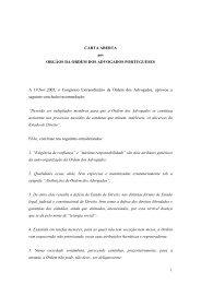 Carta aberta aos Orgãos da Ordem dos Advogados Portugueses